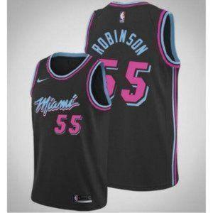 Authentic Miami Heat Duncan Robinson Black Jersey